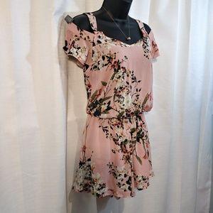 Peppermint Dresses - Peppermint Floral Cold Shoulder Romper